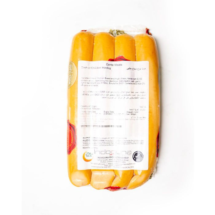 Frozen Cooked Chicken Hotdog 16-17cm | 400GM