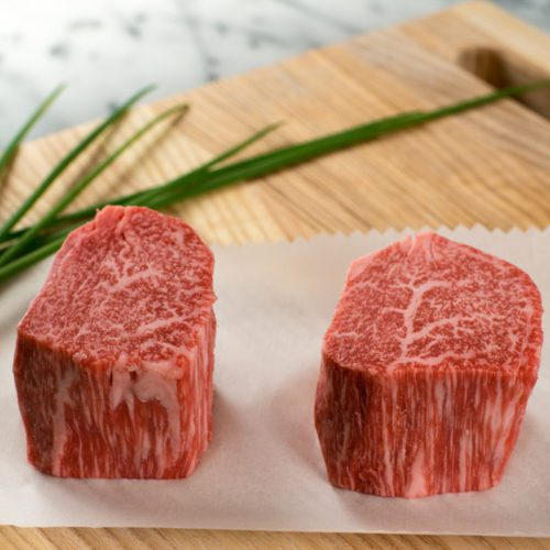Chocolate Fed Wagyu Tenderloin Filet Mignon Steak 200g | MB9+